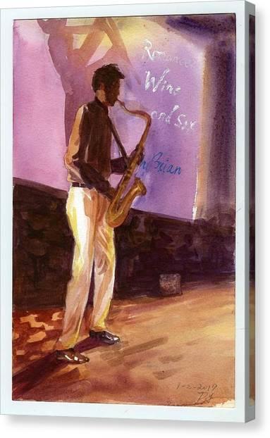 Sax Canvas Print
