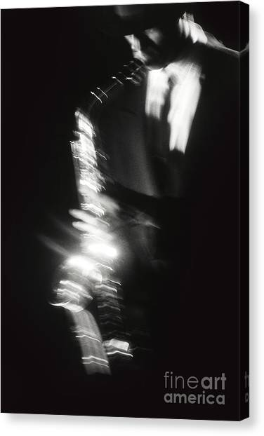 Sax Player 3 Canvas Print