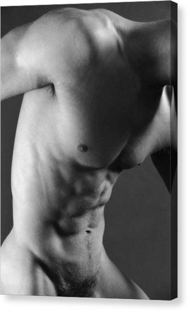 Male Nudes Canvas Print - Sax by Thomas Mitchell