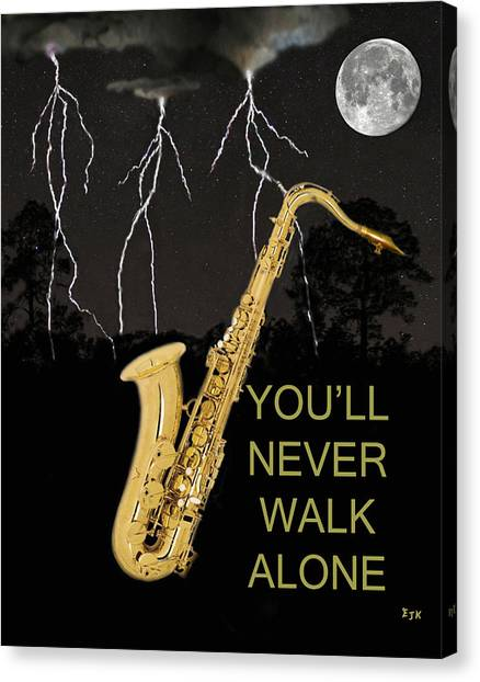 Sax Youll Never Walk Alone Canvas Print