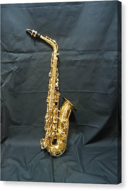 Saxophones Canvas Print - Saxophone by Minami Daminami