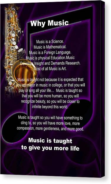 Saxophone Photograph Why Music For T-shirts Posters 4819.02 Canvas Print