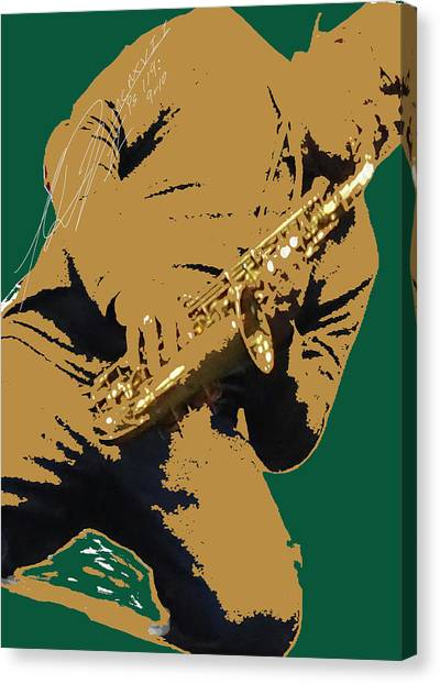 Saxual Passion Canvas Print