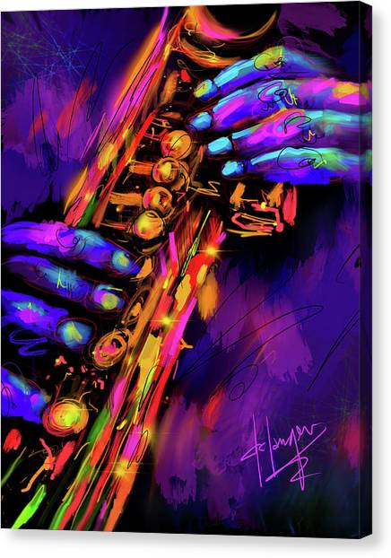 Saxy Hands Canvas Print