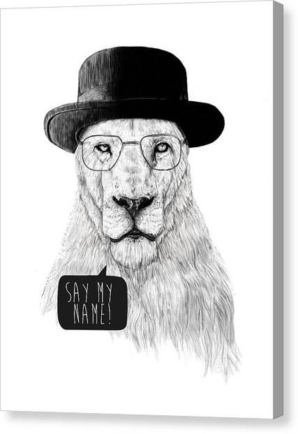 Lions Canvas Print - Say My Name by Balazs Solti