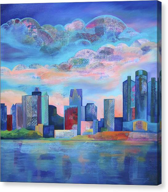 Michigan Canvas Print - Say Nice Things About Detroit by Shadia Derbyshire
