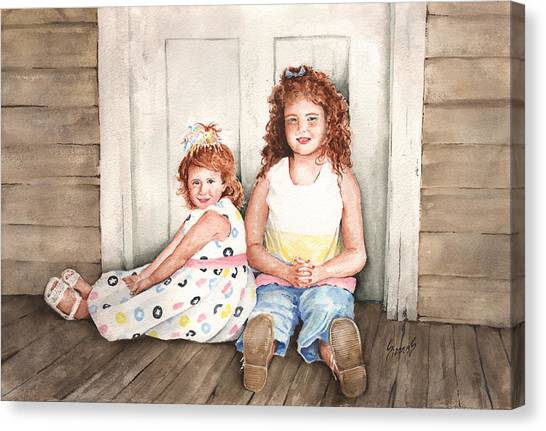 Redheads Canvas Print - Sayler And Tayzlee by Sam Sidders