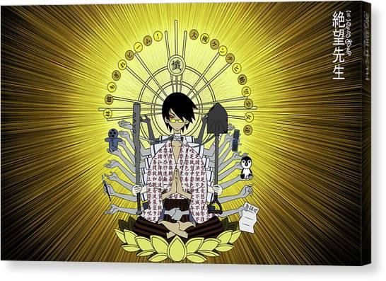 Vault Canvas Print - Sayonara, Zetsubou-sensei by Super Lovely