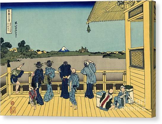 Mount Fuji Canvas Print - Sazai Hall by Hokusai