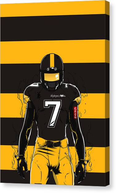 Ben Roethlisberger Canvas Print - Sb L Pittsburgh by Akyanyme