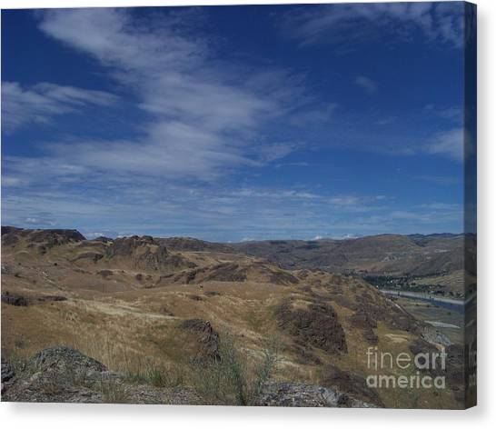 Scablands At Grand Coulee Canvas Print