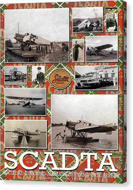 Scadta Airline Poster Canvas Print