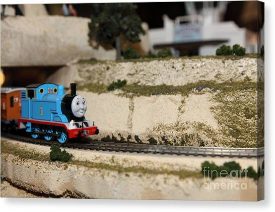 Thomas The Train Canvas Print - Scale Model Trains 5d21876 by Wingsdomain Art and Photography