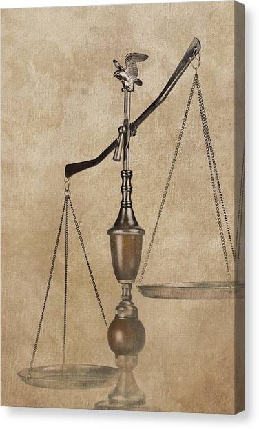 Law Canvas Print - Scales Of Justice by Tom Mc Nemar