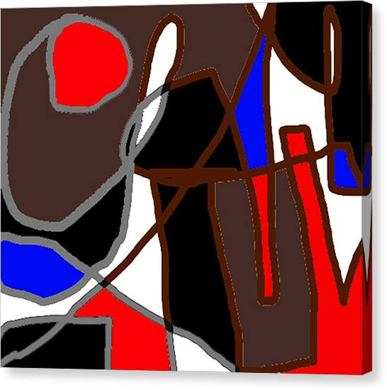 Scandal In Bohemia Original Abstract Expressionism Art Painting Canvas Print