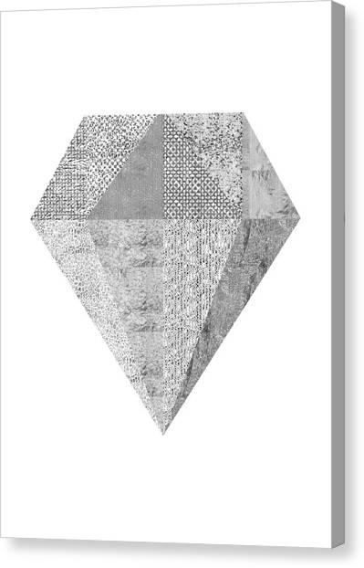 Wedding Gift Canvas Print - Scandinavian Silver Diamond by Ugur Sarac