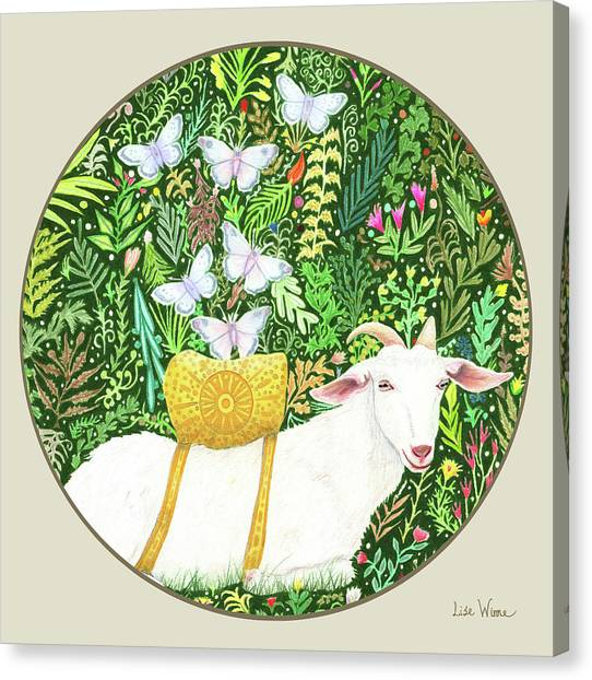 Scapegoat Button Canvas Print