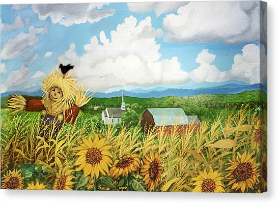 Scarecrow Farm Canvas Print
