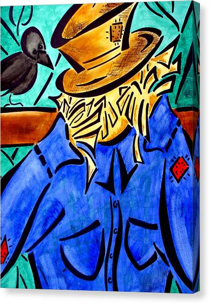 Scarecrow Canvas Print by Meilena Hauslendale