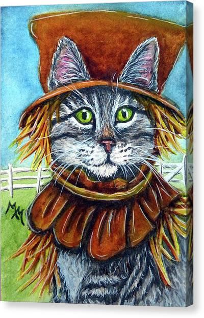 Scarecrow Tabby Canvas Print