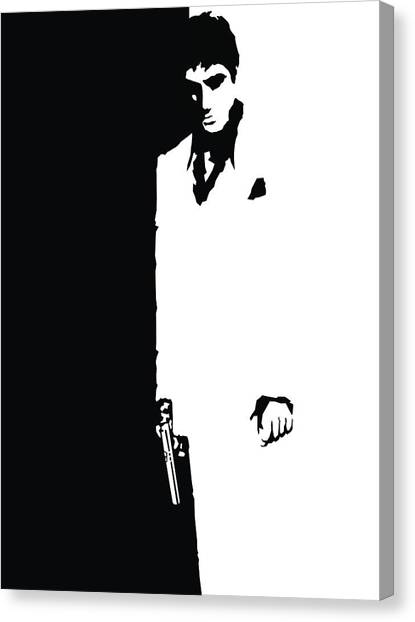 Scarface Canvas Print - Scarface 1983 by Geek N Rock