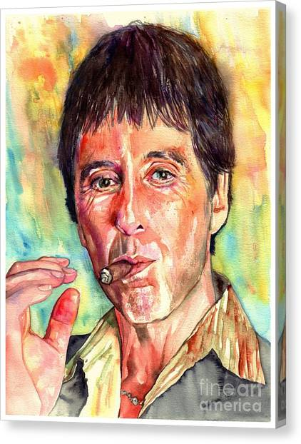 Scarface Canvas Print - Scarface by Suzann's Art