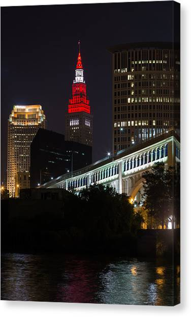 Scarlet And Gray Canvas Print