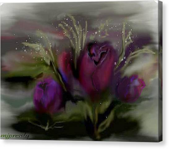 Scarlet Roses Canvas Print by June Pressly