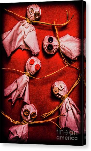 Horror Canvas Print - Scary Halloween Lollipop Ghosts by Jorgo Photography - Wall Art Gallery