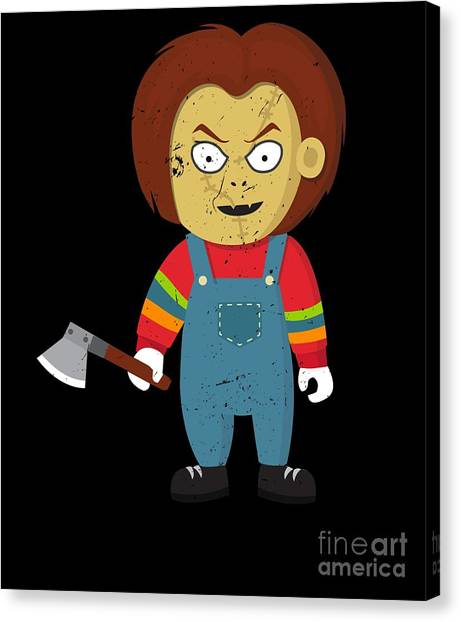 Canvas Print - Scary Murder Puppet Halloween Costume by Thomas Larch