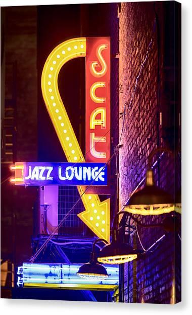 Scat Jazz Neon V3 Canvas Print