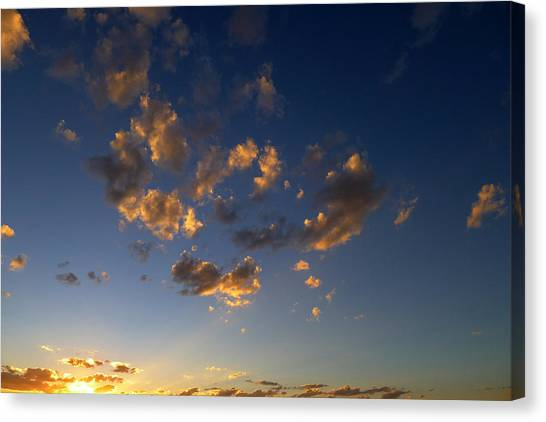Scattered Clouds At Sunset Canvas Print