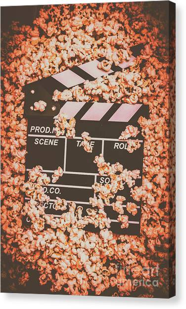 Popcorn Canvas Print - Scene From A Film Production by Jorgo Photography - Wall Art Gallery