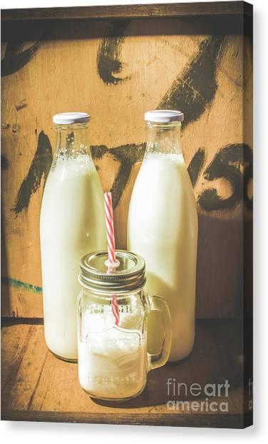 Milk Canvas Print - Scene From A Vintage Milk Bar by Jorgo Photography - Wall Art Gallery