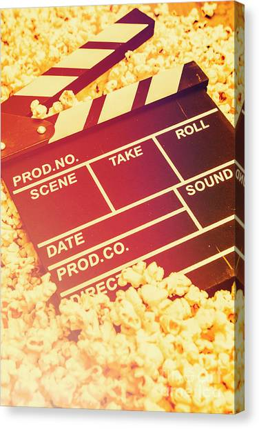Popcorn Canvas Print - Scene From An American Movie by Jorgo Photography - Wall Art Gallery