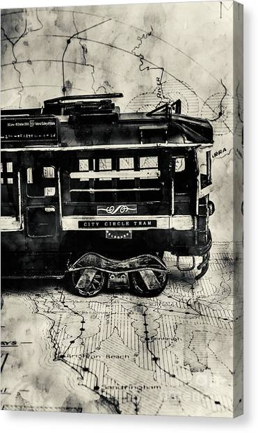 Old Train Canvas Print - Scene From The Old Tramway by Jorgo Photography - Wall Art Gallery