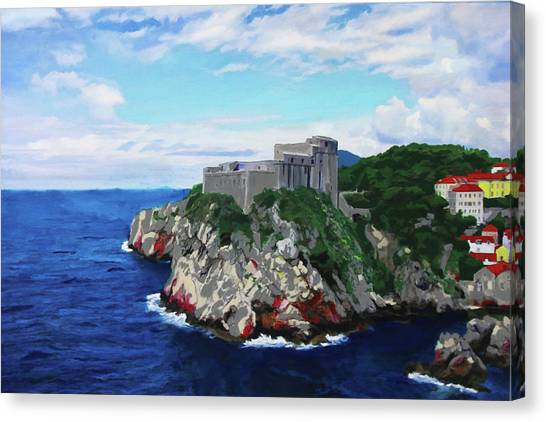 Scene From The Sea Canvas Print