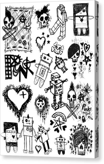 Scene Kid Sketches Canvas Print