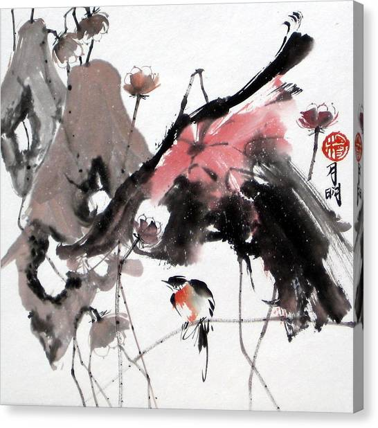 Scene Of Snow Canvas Print by Ming Yeung