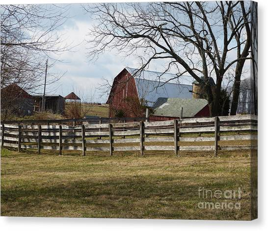 Scene On The Farm Canvas Print