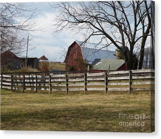 Scene On The Farm Canvas Print