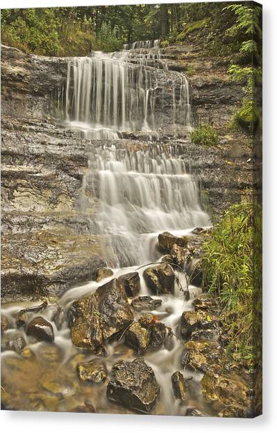 Alger Waterfalls Canvas Print - Scenic Alger Falls  by Michael Peychich