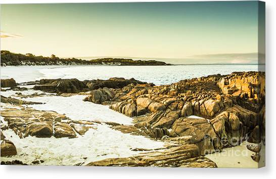 Low Tide Canvas Print - Scenic Coastal Dusk by Jorgo Photography - Wall Art Gallery
