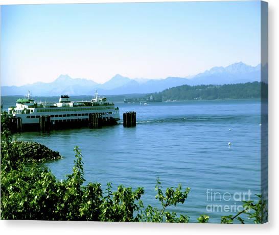 Scenic Ferry Image Canvas Print