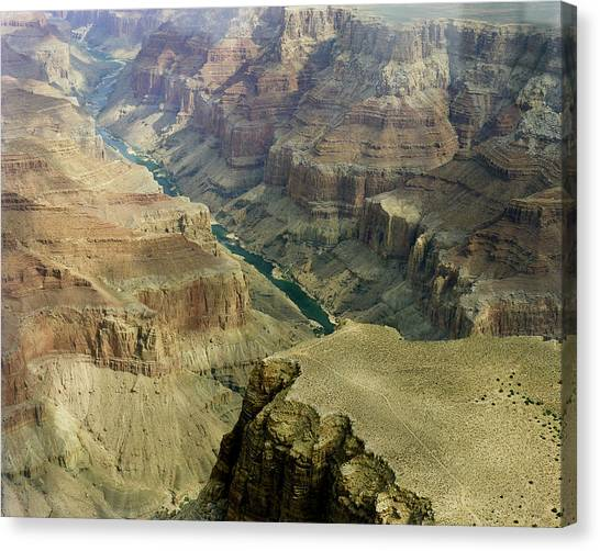 Scenic Grand Canyhon And Colorado River Canvas Print
