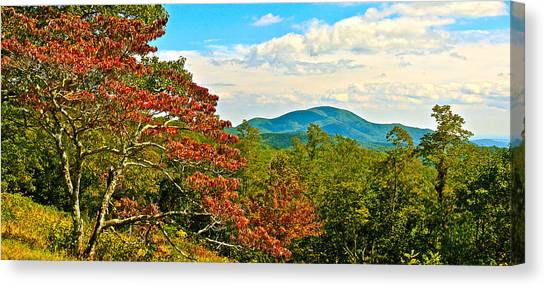Scenic Overlook Blue Ridge Parkway Canvas Print