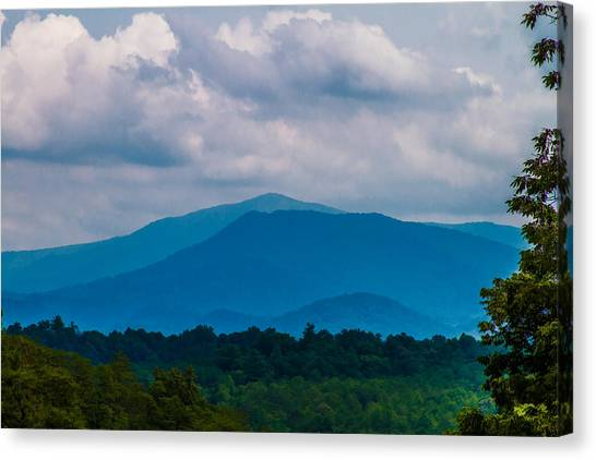 Scenic Overlook - Smoky Mountains Canvas Print by Barry Jones