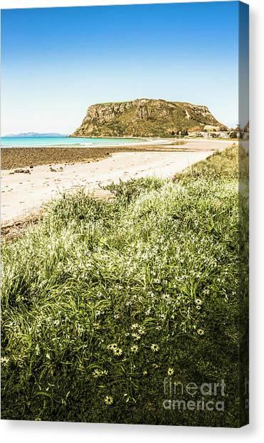 Formations Canvas Print - Scenic Stony Seashore by Jorgo Photography - Wall Art Gallery