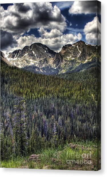 Scenic View From The Highway Canvas Print by Pete Hellmann