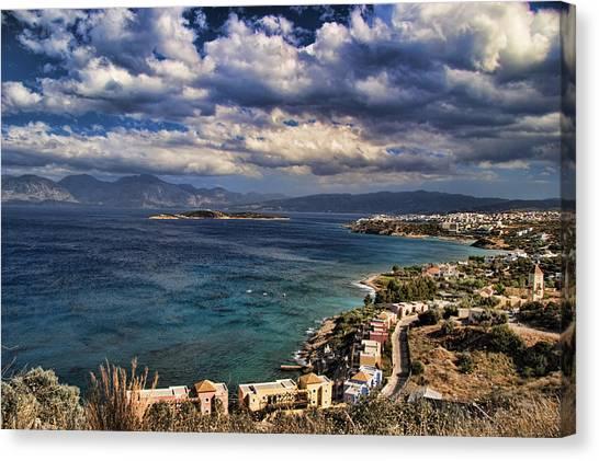 Scenic View Of Eastern Crete Canvas Print